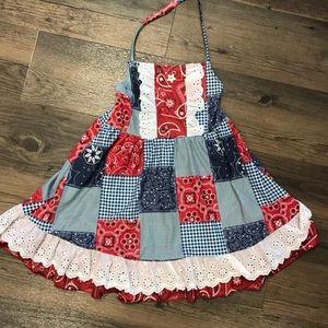Adorable match quilt halter dress
